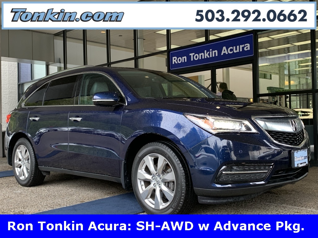 Pre Owned 2016 Acura Mdx 3 5l Sh Awd W Advance Package 4d Sport Utility In Portland Pa16683 Ron Tonkin
