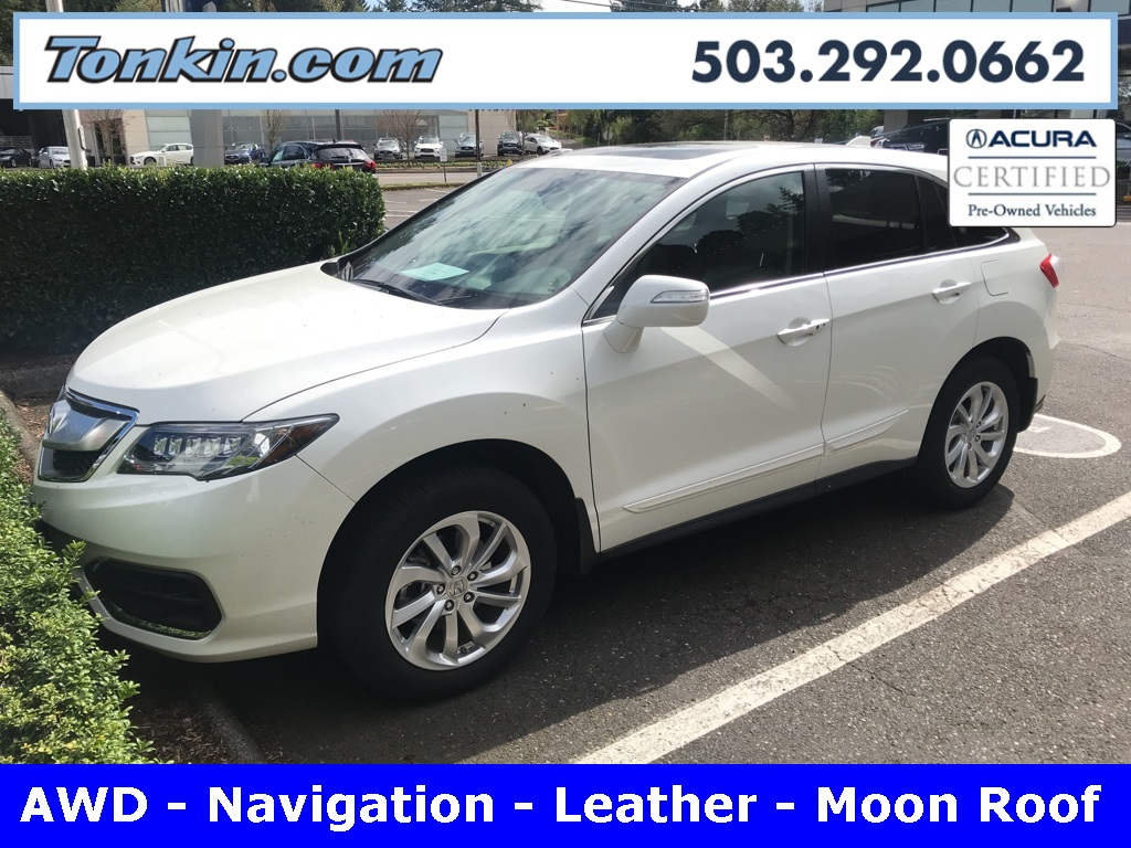 Certified Pre Owned 2016 Acura Rdx Awd With Technology Package