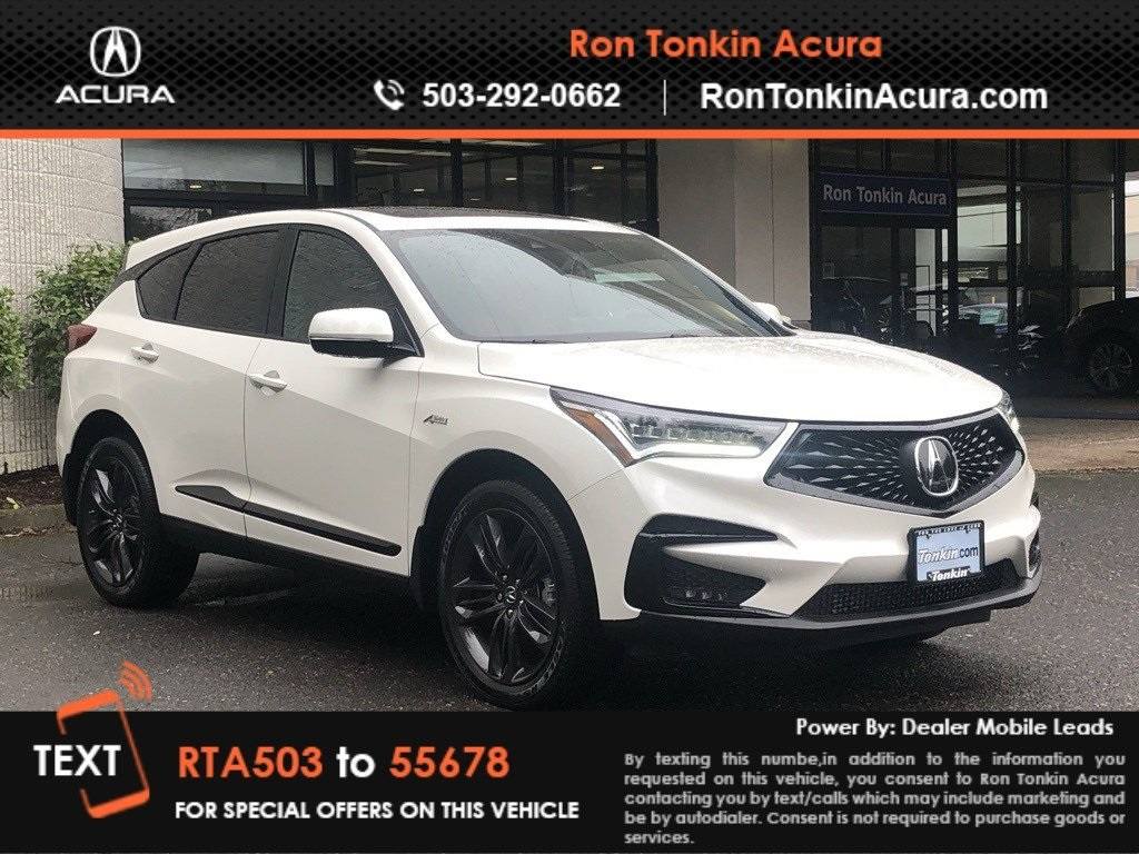New 2019 Acura Rdx Sh Awd With A Spec Package 4d Sport Utility In